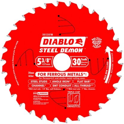 "Freud D0530FM 5‑3/8"" x 30T Metal Cutting Saw Blade"