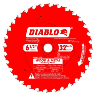 "Freud D0632GPA 6-1/2"" x 32T Wood & Metal Carbide Saw Blade"
