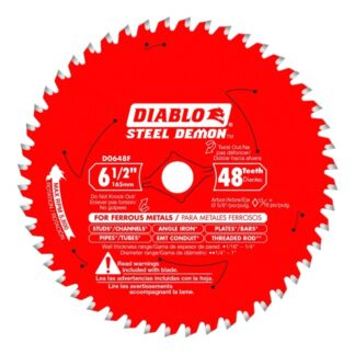 "Freud D0648F 6‑1/2"" x 48T Metal Cutting Saw Blade"