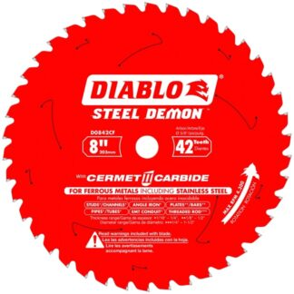 "Freud D0842CF 8"" x 42T Cermet Metal and Stainless Steel Cutting Saw Blade"