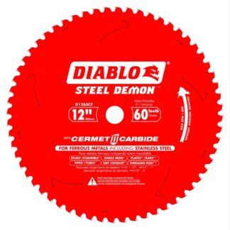 "Freud D1260CF 12"" x 60T Cermet Metal and Stainless Steel Cutting Saw Blade"