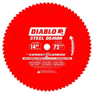 """Freud D1472CF 14"""" x 72T Cermet Metal and Stainless Steel Cutting Saw Blade"""