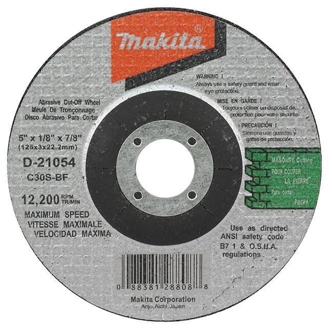 """Makita D-21054 5"""" Masonry Cut-Off Wheel"""