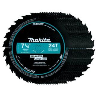"MakitaA-94530-10 7-1/4"" 24T Carbide Tipped Ultra-Coated Circular Saw Blade 10pk"