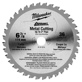 "Milwaukee 48-40-4016 6-7/8"" 36T Ferrous Metal Cutting Circular Saw Blade"