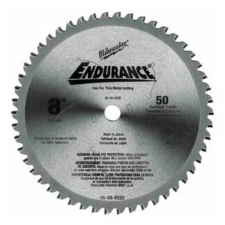 "Milwaukee 48-40-4520 8"" 50T Dry Cut Cermet Tipped Circular Saw Blade"