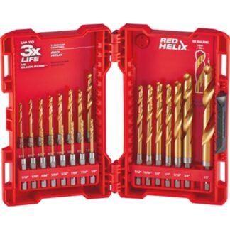 Milwaukee 48-89-4631 SHOCKWAVE RED HELIX Titanium Drill Bit Set 23PC