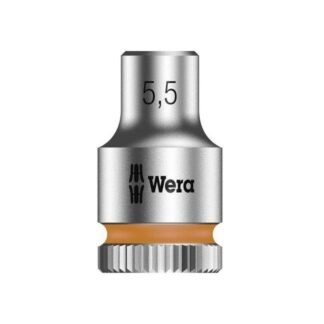 "Wera 003504 8790 HMA Zyklop socket 5.5mm with 1/4"" drive"