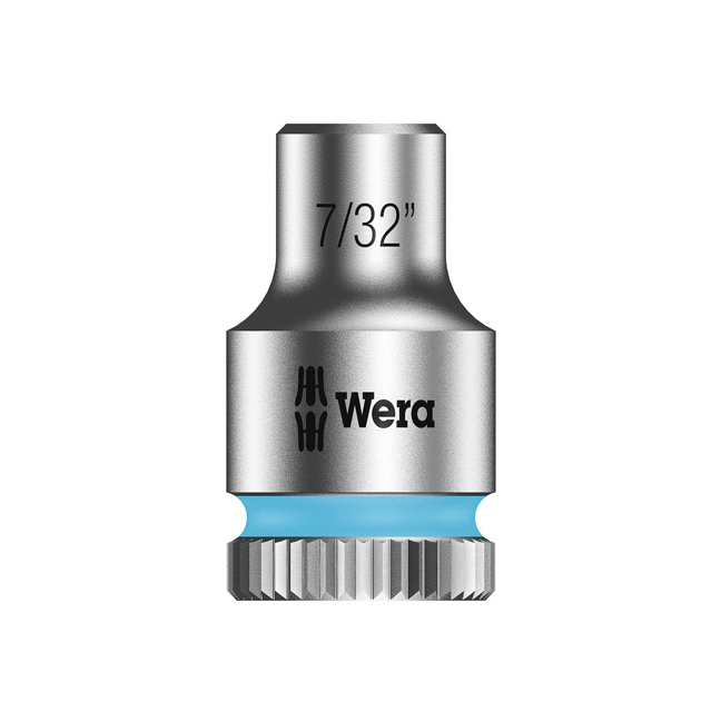 "Wera 003515 8790 HMA Zyklop socket 7/32"" with 1/4"" drive"