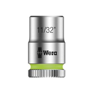 "Wera 003519 8790 HMA Zyklop socket 11/32"" with 1/4"" drive"