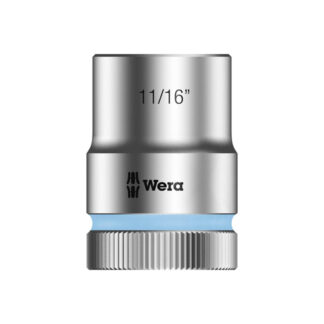 "Wera 003624 8790 HMC Zyklop socket 11/16"" with 1/2"" drive"