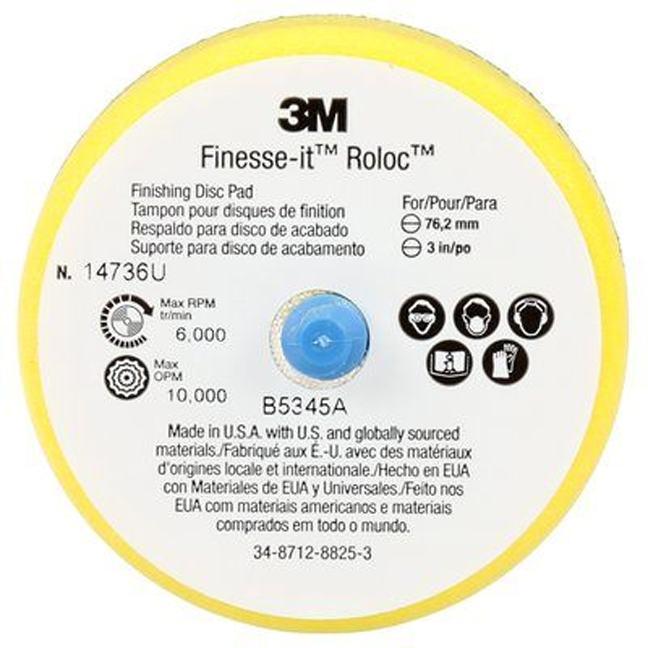 """3M 7000000573 Finesse-it Roloc Finishing Disc Pad 14736U 3"""""""
