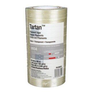 """3M 7000028887 Filament Tape 8934 Clear 1/2"""""""