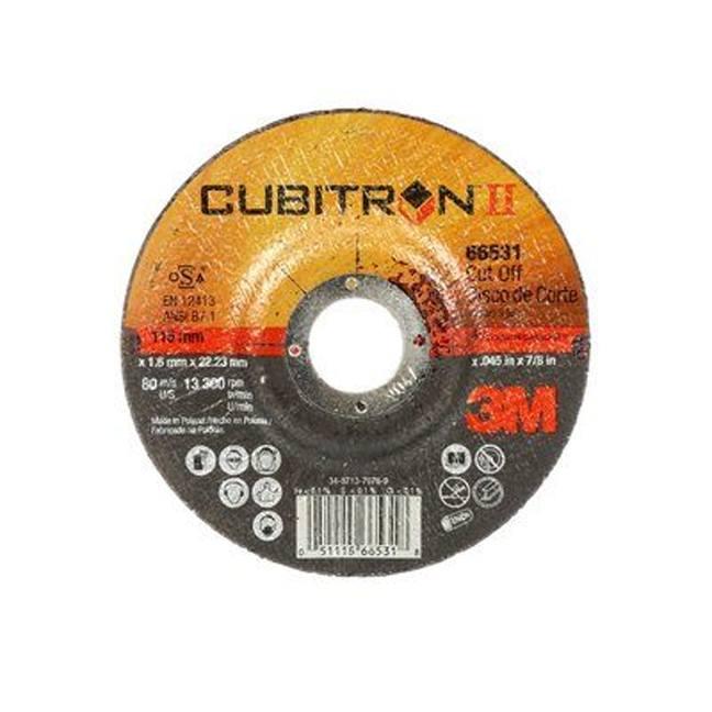 "3M 7100024774 Cubitron II Cut-Off Wheel 66526 5"""