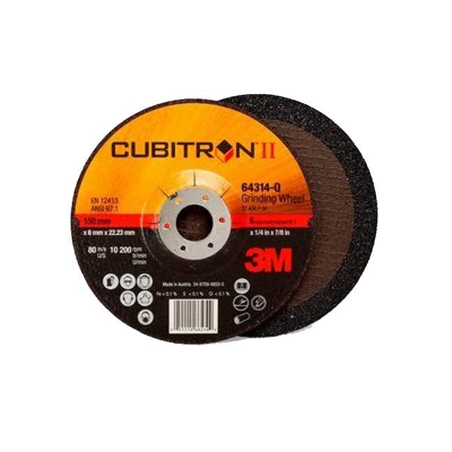 "3M 7100094061 Cubitron II Depressed Center Grinding Wheel 64314 6"""