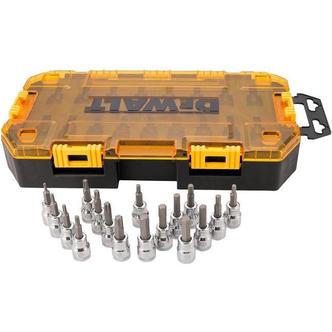 DeWalt DWMT73806 Tough Box Tool Kit 3/8'' Drive Socket Set 17pc
