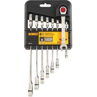 DeWalt DWMT74197 Flex-Head Ratchet Combination Wrench Set SAE