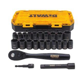 DeWalt DWMT74739 Combination Tool Kit 1/2'' Deep Socket Set 23pc