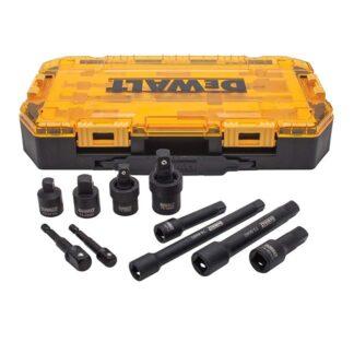 "DeWalt DWMT74741 Metric Tool Kit 3/8"" & 1/2'' Socket Adapter Set 10pc"