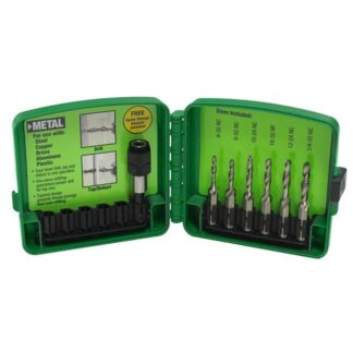Greenlee DTAPKIT 6-32 to 1/4-20 Combination Drill and Tap Set 6pc