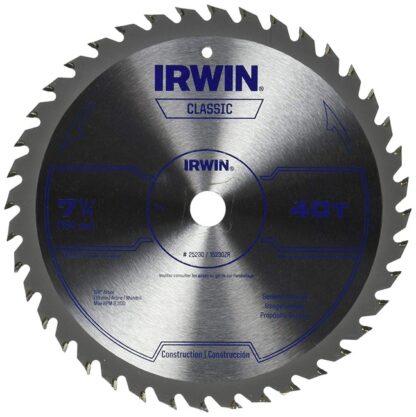 """Irwin 25230 Circular Saw Blade 7-1/4"""" 40T"""