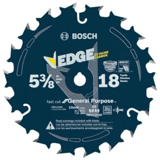 "Bosch CBCL518A 5-3/8"" 18T Edge Circular Saw Blade for Fast Cuts"