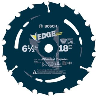 "Bosch DCB618 6-1/2"" 18T Edge Circular Saw Blade for Fast Cuts"