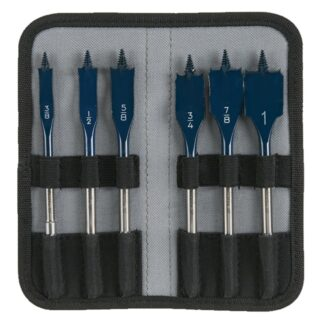 Bosch DSB5006P 6PC Daredevil Standard Spade Bit Set in Pouch