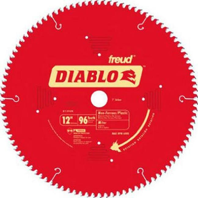 "Freud D1296N Diablo 12"" 96T TCG Non-Ferrous Metal and Plastic Cutting Miter Saw Blade"