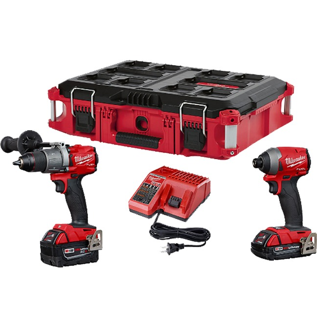 Milwaukee 2997 22cxpoc 2 Tool Combo Kit With Packout Case