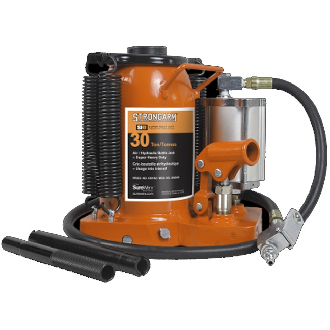 Strongarm 030162 30 Ton Low Profile Air/Hydraulic Bottle Jack