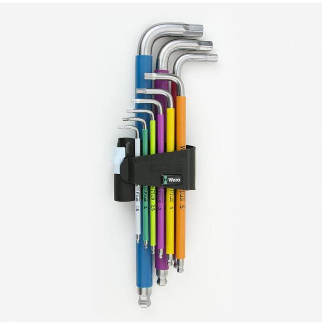 Wera 022669 Metric Multicolor Stainless Steel Ball End Hex Key Set