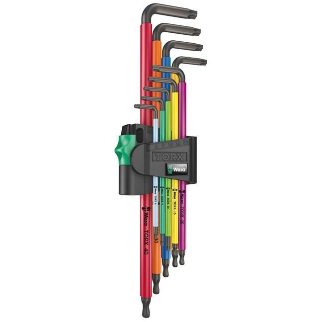 Wera 024480 Torx XL Long Arm Multicolor L-Key Set
