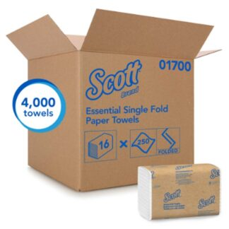 "Kimberly Clark 01700 Scott Essential Single-Fold Towels 10.5""x9.3"""