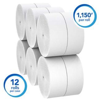 Kimberly Clark 07006 Scott Essential Coreless JRT 2-ply Toilet Paper 3.78″x1150′