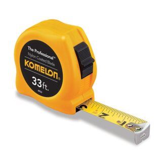 Komelon 4933 The Professional Nylon Coated Steel Blade Tape Measure 33ft