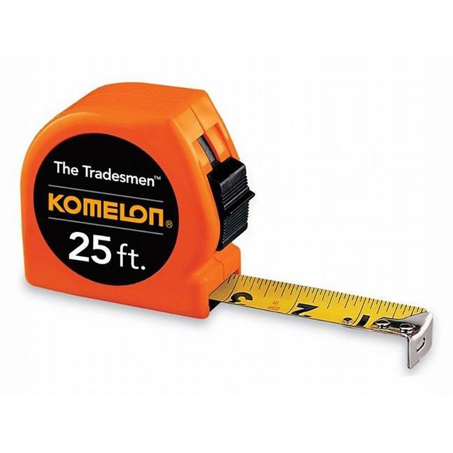 Komelon T3725 The Tradesmen Tape Measure 25ft