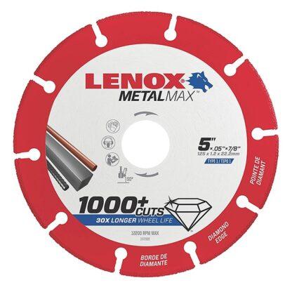 """Lenox 1972922 METALMAX Diamond Edge Cutoff Wheel 5""""x7/8"""""""