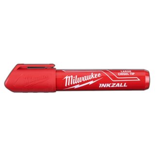 Milwaukee 48-22-3256 INKZALL Large Chisel Tip Marker Red