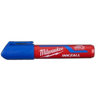 Milwaukee 48-22-3257 INKZALL Large Chisel Tip Marker Blue