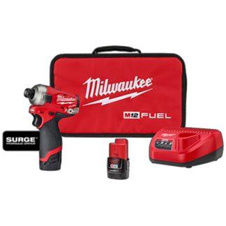 "Milwaukee 2551-22 M12 FUEL SURGE 1/4"" Hex Hydraulic Driver Kit"