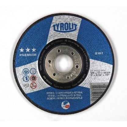 Tyrolit 1421 27 7X9/32X7/8 ST/SS Premium Grinding Wheel