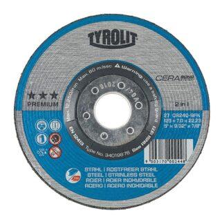 Tyrolit 34019876 27 5X9/32X7/8 Grinding Wheel