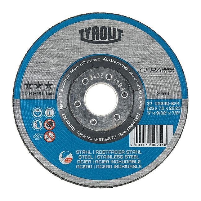 Tyrolit 34019877 27 6X9/32X7/8 Grinding Wheel