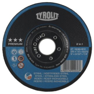 Tyrolit 34046131 5X9/32X7/8 A24 ST/SS Grinding Wheel