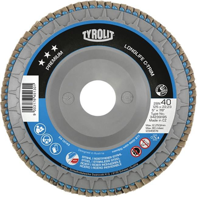 "Tyrolit 34239196 5"" Flap Disc Wheel"