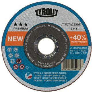 "Tyrolit 34256273 5"" Cerabond Cutting Disc"