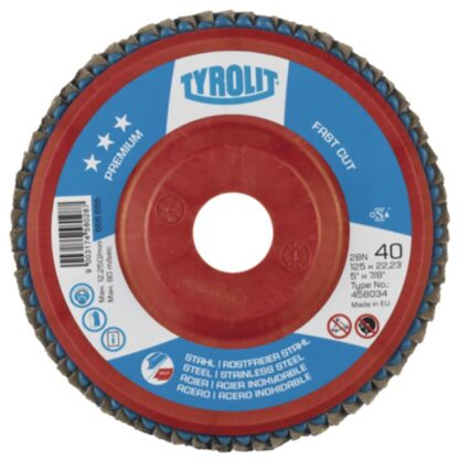 "Tyrolit 458031 5"" Flap Disc Wheel"