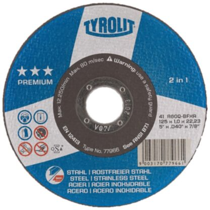 "Tyrolit 77964 5"" Cutoff Wheel"
