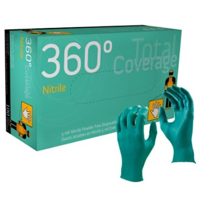 Watson 4444PF 360° Total Coverage Gloves - 5 mil Teal